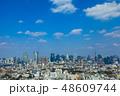 (東京都-都市風景)展望デッキから望む六本木方面の風景2 48609744