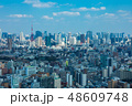 (東京都-都市風景)展望デッキから望む芝方面の風景1 48609748