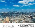 (東京都-都市風景)展望デッキから望む六本木方面の風景3 48609753