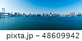 (東京都-風景パノラマ)レインボーブリッジから晴海埠頭までの風景 48609942