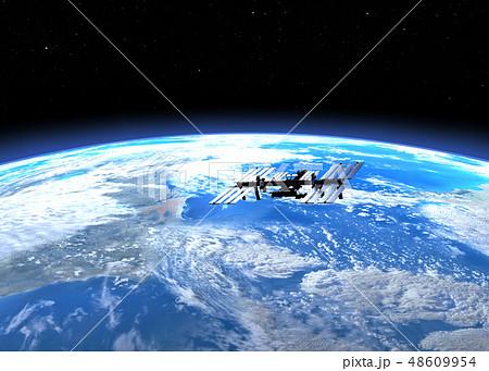 ISS国際宇宙ステーション perming3DCGイラスト素材 48609954