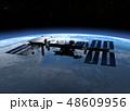 ISS国際宇宙ステーション perming3DCGイラスト素材 48609956