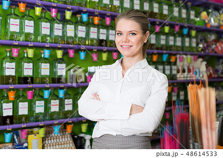 Confident woman in perfume shop 48614533