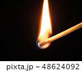 マッチ 炎 火の写真 48624092