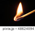 マッチ 炎 火の写真 48624094