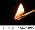 マッチ 炎 火の写真 48624095