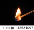 マッチ 炎 火の写真 48624097