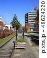 散歩 散歩道 線路の写真 48624220