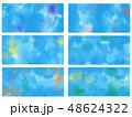 滲んだ絵の具の背景 壁紙 48624322