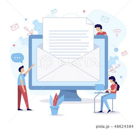 Send email flat illustration 48624384