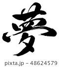 書道 毛筆 文字のイラスト 48624579