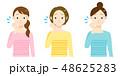 女性 3人 色違いのイラスト 48625283