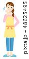 女性 主婦 エプロンのイラスト 48625495
