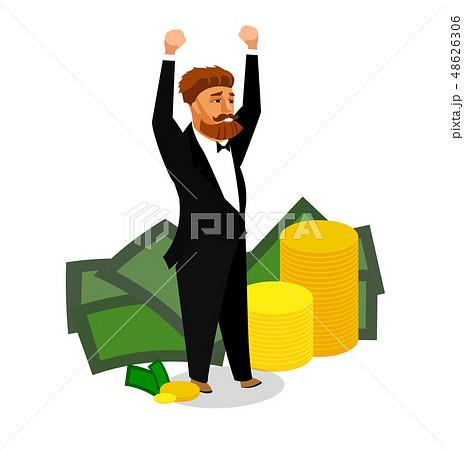 Happy Successful Businessman Vector Illustration 48626306