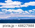 「海ほたる」から眺める、東京湾と富士山 48627988
