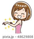 美容 女性 脱毛のイラスト 48629808