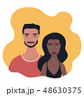 Mixed race couple Portrait Multi racial relationship concept 48630375