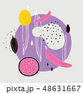 Stylish background with abstract hand drawn design elements polka dots circle lines shapes 48631667