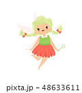 仙女 ベクトル 女の子のイラスト 48633611