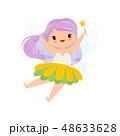 仙女 ベクトル 女の子のイラスト 48633628