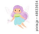 仙女 ベクトル 女の子のイラスト 48633654