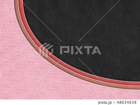 和風背景素材-和紙の風合い-和柄-クラフト-重ね 48634638