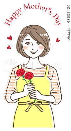 母の日 カーネーション お母さんの笑顔 48635420