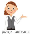 会社員 ビジネス 案内のイラスト 48635839