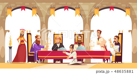 Castle Cartoon Poster 48635881
