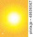 背景 放射状 光のイラスト 48636567