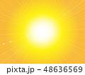 背景 放射状 光のイラスト 48636569