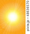 背景 放射状 光のイラスト 48636570