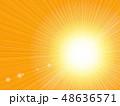 背景 放射状 光のイラスト 48636571