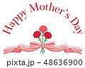 母の日 カーネーション 花束 リボン 感謝 48636900