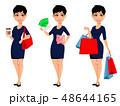 ビジネスウーマン 女性 レディのイラスト 48644165