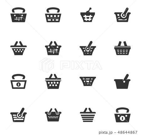 Basket icons set 48644867