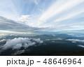 富士山から望む富士山麓と山中湖 48646964