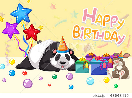 happy birthday panda card 48648416