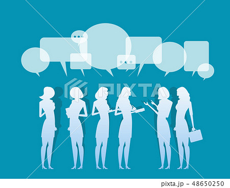 Silhouette. Business corporate meeting. Concept 48650250