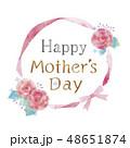 花のフレームのイラスト 48651874
