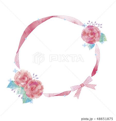 花のフレームのイラスト 48651875