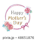 花のフレームのイラスト 48651876