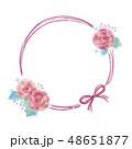 花のフレームのイラスト 48651877
