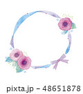 花のフレームのイラスト 48651878