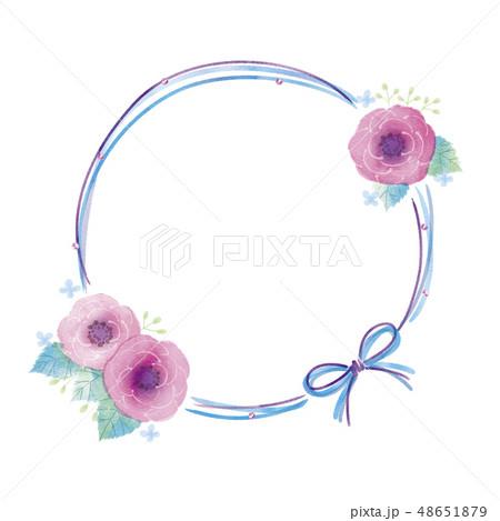 花のフレームのイラスト 48651879