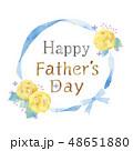 花のフレームのイラスト 48651880