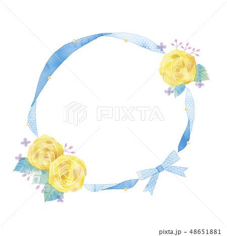 花のフレームのイラスト 48651881