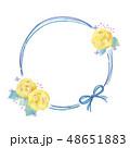 花のフレームのイラスト 48651883