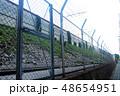線路沿いのフェンス 48654951