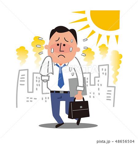 猛暑の中のビジネスマン 48656504